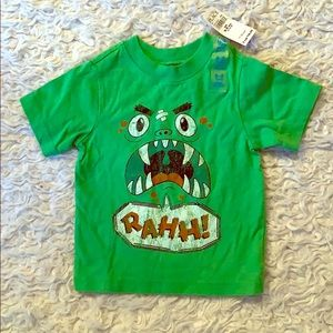 Boys green monster T-shirt
